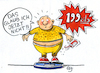 Cartoon: KFC (small) by GB tagged fast,restaurant,fat,hamburger,cheeseburger,pommes,junk,food