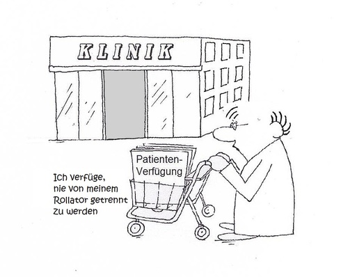 Cartoon: Patientenverfügung (medium) by Retlaw tagged senioren