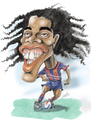 Cartoon: Ronaldinho (small) by guillelorentzen tagged ronaldinho