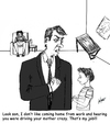 Cartoon: driving mom crazy (small) by optimystical tagged dad,son,father,mom,crazy,wreck,drinking,reprimand
