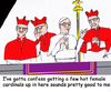 Cartoon: Hot topic female cardinals (small) by optimystical tagged pope,cardinals,religion,controversy,females,catholics