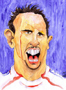 Cartoon: Franck Ribery (small) by Mario Schuster tagged franck ribery france frankreich fußball soccer football wm worldcup portrait porträt caricature karikatur