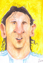 Cartoon: Lionel Messi (small) by Mario Schuster tagged lionel,messi,portrait,porträt,caricature,karikatur,fußball,argentinia,argentinien,soccer,football,wm,worldcup