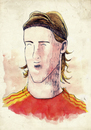Cartoon: Fernando Torres (small) by Thomas Berthelon tagged berthelon,thomas,worldcup,world,cup,2010,mondial,football,torres