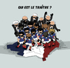 Cartoon: Who is the traitor ? (small) by Thomas Berthelon tagged berthelon,thomas,worldcup,world,cup,2010,mondial,anelka,football,domenech