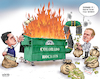 Cartoon: Colorado Rockies Dumpster Fire (small) by karlwimer tagged sports,colorado,rockies,major,league,baseball,mlb,dumpster,fire,cartoon,karl,wimer