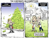 Cartoon: Corporate HQ Competition (small) by karlwimer tagged business,economy,headquarters,denver,colorado,money,taxes,education,infrastructure