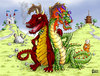 Cartoon: East West Dragons (small) by karlwimer tagged dragons,east,west,china