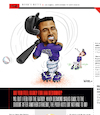 Cartoon: Ian Desmond Twisted Up (small) by karlwimer tagged baseball,colorado,rockies,ian,desmond,strikeout