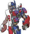 Cartoon: Optimus Pryor (small) by karlwimer tagged transformer,terrelle,pryor,optimus,prime,football,american,quarterback,receiver,sports,robot
