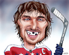 Cartoon: Ovechkins 700 Goal Smile (small) by karlwimer tagged sports,washington,capitals,nhl,ice,hockey,alexander,ovechkin,goals