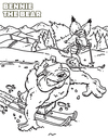 Cartoon: Sammy and Bennie Ski (small) by karlwimer tagged bear,fox,snow,ski,coloringbook