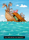 Cartoon: Termite Ark (small) by karlwimer tagged ark,termites,noah,ocean,animals,zoo