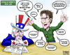 Cartoon: Uncle Sam Pep Talk (small) by karlwimer tagged charlie sheen business usa economy uncle sam employment market confidence crazy insane overconfidence