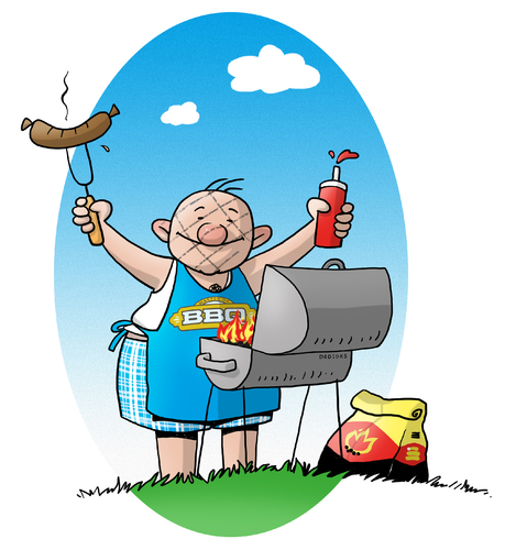 Cartoon: King of Barbecue (medium) by droigks tagged grill,grillen,droigks,grillmeister,master,of,barbecue,bbc,grillsaison,steak,bratwurst,camping,grill,grillen,droigks,grillmeister,master,of,barbecue,bbc,grillsaison,steak,bratwurst,camping