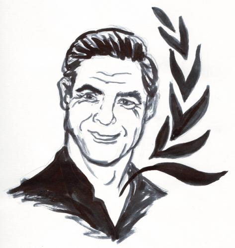 Cartoon: George Clooney (medium) by martista tagged george,clooney,actor,famous,onu,prensa