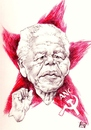 Cartoon: Nelson Mandela (small) by wwoeart tagged nelson,mandela