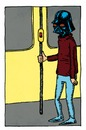 Cartoon: Vader on the bus (small) by Breidholt tagged star,wars,darth,vader