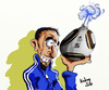 Cartoon: Franck Ribery (small) by kadran tagged franck ribery coupe du monde fifa 2010