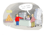 Cartoon: Not funny! (small) by darkplanet tagged supermarket,toilet,paper,customer,corona,virus