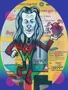 Cartoon: Walken Astro Ranger (small) by Tzod Earf tagged christopher,walken,caricature