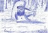 Cartoon: waldgeist (small) by XombieLarry tagged wald,geist