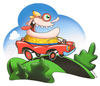 Cartoon: Happy Motoring (small) by birdbee tagged silly,car,drive,road,automobile,goggles