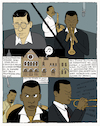 Cartoon: blue (small) by marco petrella tagged jazz,miles,davis,kindofblue