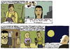 Cartoon: short stories (small) by marco petrella tagged colm,toibin,jonathan,lethem