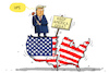 Cartoon: trump spaltet die usa (small) by leopold maurer tagged usa,trump,spaltung,wahlkampf,2020