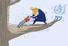 Cartoon: trump und die WHO (small) by leopold maurer tagged usa,trump,kürzung,who,corona,krise
