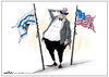Cartoon: U.S. sovereignty (small) by Amer-Cartoons tagged flag of israel and america