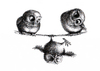 Cartoon: Tightrope Walk - Hochseilakt (small) by Stefan Kahlhammer tagged eule eulen ironie ironical art kahlhammer owls owl kauz tusche fogey seil hochseil