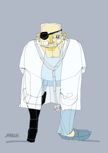 Cartoon: A doctor (medium) by omar seddek mostafa tagged doctor