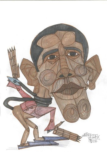 Cartoon: Obama  USA (medium) by omar seddek mostafa tagged obama,usa