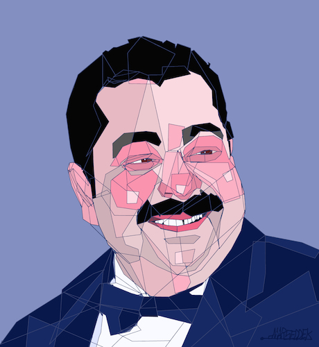 Cartoon: Tariq Abdel Aziz (medium) by omar seddek mostafa tagged tariq,abdel,aziz,egyptian,actor