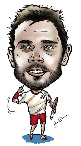 Cartoon: Stanislas Wawrinka (medium) by Perics tagged serve,melbourne,wimbledon,tennis,switzerland,champions,open,australian,caricature,wawrinka,stanislas,volley