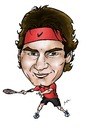 Cartoon: Roger Federer (small) by Perics tagged roger,federer,tennis,caricature,atp,tour