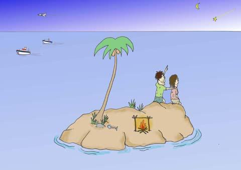 Cartoon: no title (medium) by joruju piroshiki tagged island