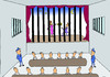 Cartoon: the theater in prison (small) by joruju piroshiki tagged prison,theater