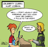 Cartoon: Celebrity Clerk Kurt Cobain (small) by Mike Spicer tagged mike,spicer,cartoonist,celebrity,clerk,humour,cartoon,comic