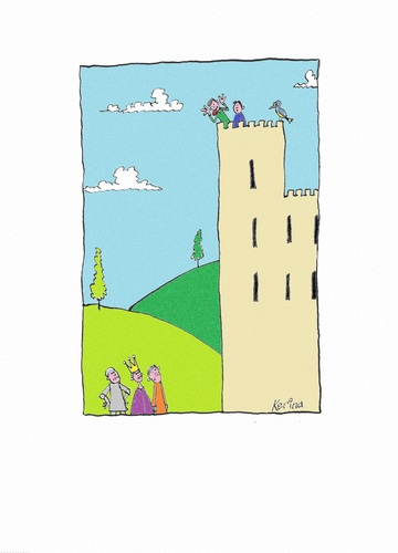 Cartoon: King of the Castle (medium) by Kerina Strevens tagged castle,king