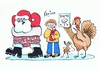 Cartoon: Happy Christmas 2012 (small) by Kerina Strevens tagged father,christmas,santa,turkey,xmas,diet,chimney
