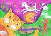 Cartoon: Hey Diddle Diddle (small) by Kerina Strevens tagged cat fiddle music cow jump moon dog laugh fun dish spoon nursery rhyme