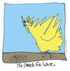 Cartoon: The Search for Love (small) by ringer tagged animals,birds,love,search