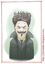 Cartoon: August Strindberg (small) by Freelah tagged august,strindberg