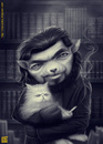 Cartoon: Julio Cortazar (small) by Freelah tagged julio,cortazar,argentine,storyteller,short,story,books