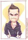 Cartoon: Robbie Williams (small) by Freelah tagged robbie,williams,pop,star,singer