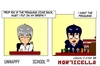 Cartoon: US lesson 0 Strip 38 (small) by morticella tagged uslesson0,unhappy,school,morticella,manga