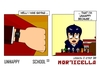 Cartoon: US lesson 0 Strip 39 (small) by morticella tagged uslesson0,unhappy,school,morticella,manga